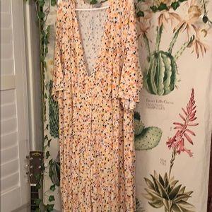 Ditsy Print Maxi Dress